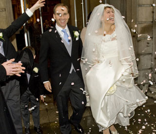 Wedding joy for Kate Silverton and her 'natural gent'