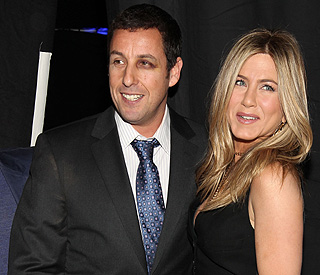 Ouch: Adam Sandler shows off his shiner