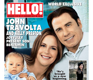 Overjoyed John Travolta and Kelly introduce baby son