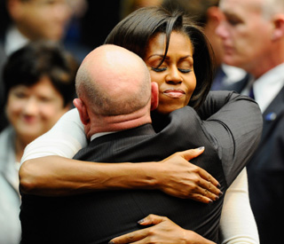 Michelle and Barack Obama bring comfort in Arizona