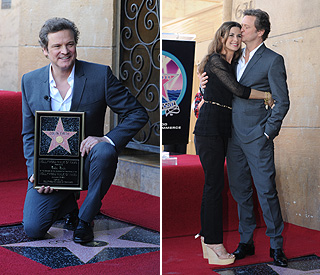 Colin Firth moved to tears by Hollywood star honour