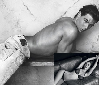 Rafael Nadal sizzles in Armani ads with Megan Fox