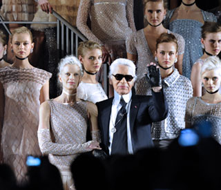 Grecian meets girly at Lagerfeld Chanel show