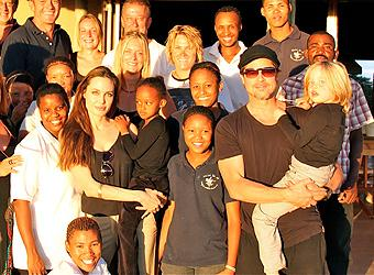 Brad and Angelina back in Namibia for wild life mission