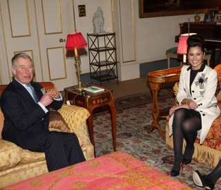 Cheryl Cole has afternoon tea with Prince Charles