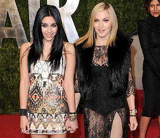 Madonna's risque outfit: that's some material, girl
