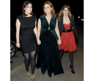 Duchess of York and her girls in a show of unity