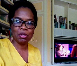 Oprah gives Twitter fans candid insight into her home