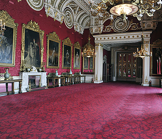 Opulent rooms where guests will toast royal couple