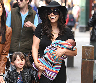First public outing for Myleene Klass and baby Hero