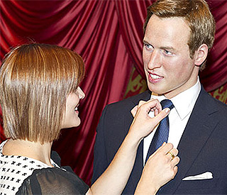 Prince William waxwork receives the royal treatment