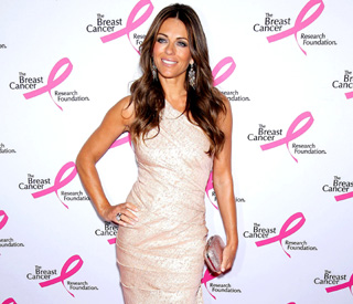 Charity supporter Elizabeth Hurley is pretty in pink