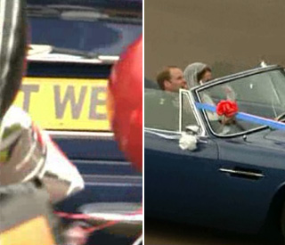 Just wed: royal couple's surprise for the crowds