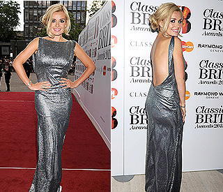 Katherine Jenkins wows in backless dress at BRITs
