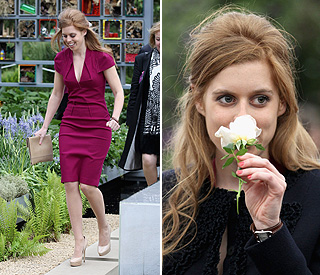 Princess Beatrice in full bloom at flower show