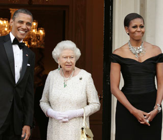 Dazzling display from Michelle Obama and the Queen