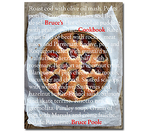 A tasty recipe from 'Bruce's Cookbook'