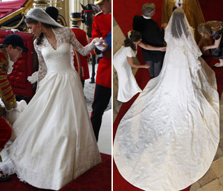 Kate's wedding gown to show at Buckingham Palace