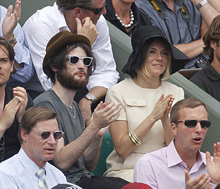 French Open flirting for Sienna Miller and new man