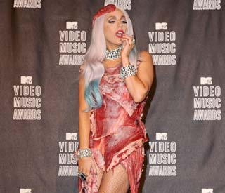 Gaga's meat dress now 'beef-jerky' for Hall of Fame