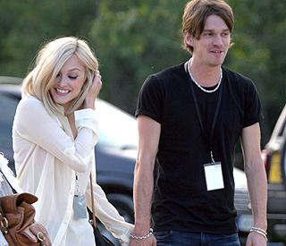 Fearne steps out with Ronnie Wood's son Jesse