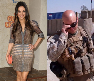 Marine's cheeky online vid scores date with Mila Kunis