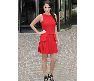 X Factor's Tulisa is a show-stopping lady in red