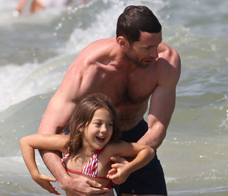 Summer fun for Hugh Jackman and his children