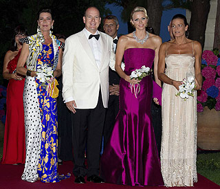 Prince Albert's diamond girl Charlene sparkles at ball