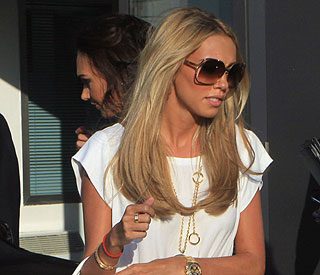 Petra Ecclestone arrives in Italy ahead of wedding