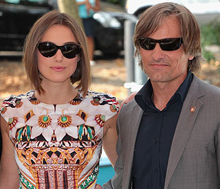 Keira Knightley and Viggo Mortensen jet into Venice