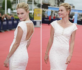 Kate Bosworth a vision in white at Deauville