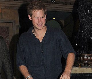 Prince Harry enjoys night out before military duty