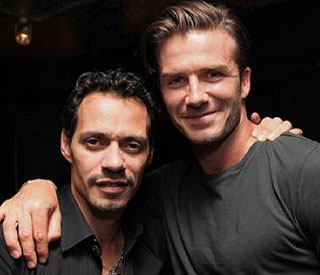 Marc Anthony and David Beckham 'hang out'