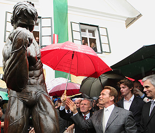 'I'll be back... forever!' Arnie opens museum of his life