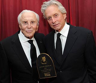 Michael Douglas honoured by proud dad Kirk