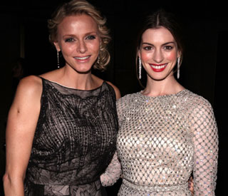 Anne Hathaway meets real life princess, Charlene