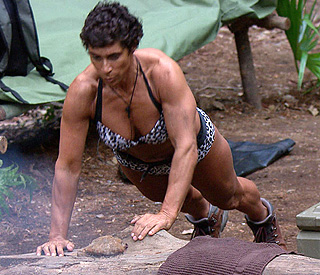 Fatima Whitbread shows off Olympian physique