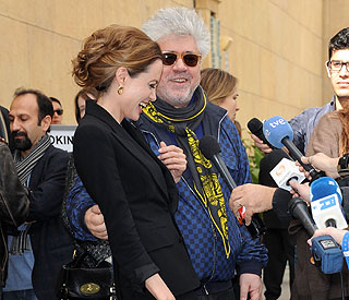 Angelina Jolie asks Pedro Almodovar for a job