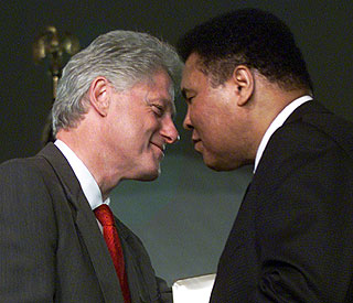 Bill Clinton commends Muhammad Ali as he turns 70