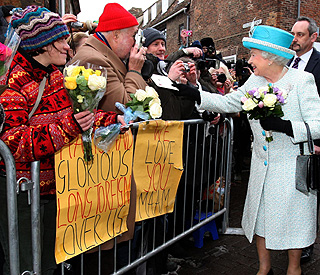 Queen thanks public for their support