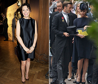 Olivia Colman chooses VB dress because 'you can eat'