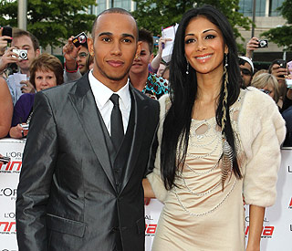 Nicole Scherzinger and Lewis spotted together