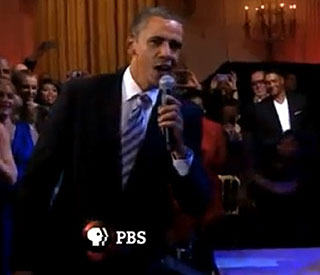 Barack sings the blues at the White House
