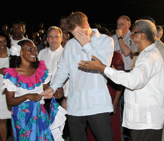 Shy Prince Harry charms Belize