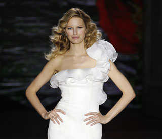 The latest in asymmetrical wedding dresses