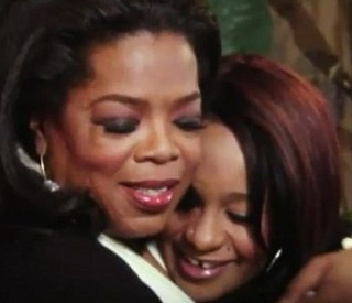 Oprah comforts Whitney's daughter during TV interview