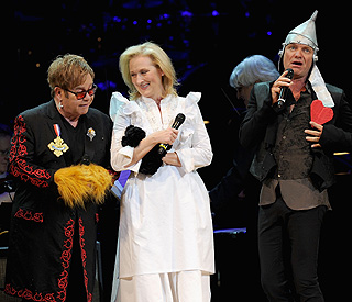 Sir Elton and Meryl put on wizard performance