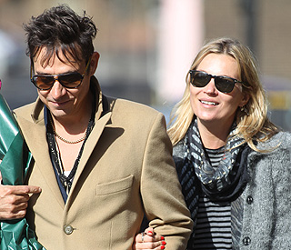 Kate Moss and Jamie Hince have a spring in their step