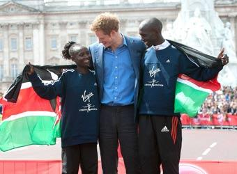 Prince Harry goes the extra mile at London Marathon